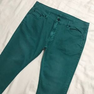 AX Armani Exchange Straight Chino Pants in Teal